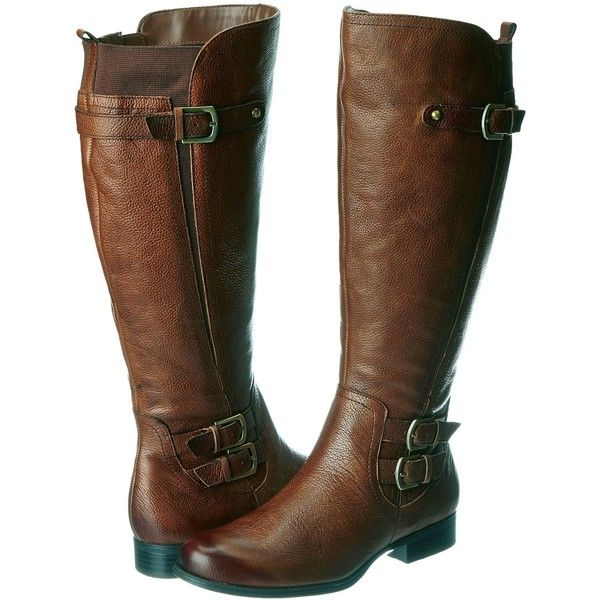 AmazonSmile: Naturalizer Women's Johanna Wideshaft Riding Boot,Banana... ($80) ❤ liked on Polyvore featuring shoes, boots, chukka boots, genuine leather boots, genuine leather riding boots, real leather knee high boots and leather equestrian boots
