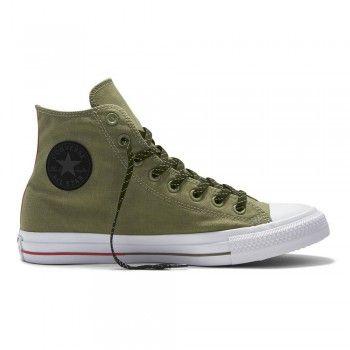 Converse Chuck Unisex Sneaker Hi Fatigue green/ white/ Signal Red (grün)