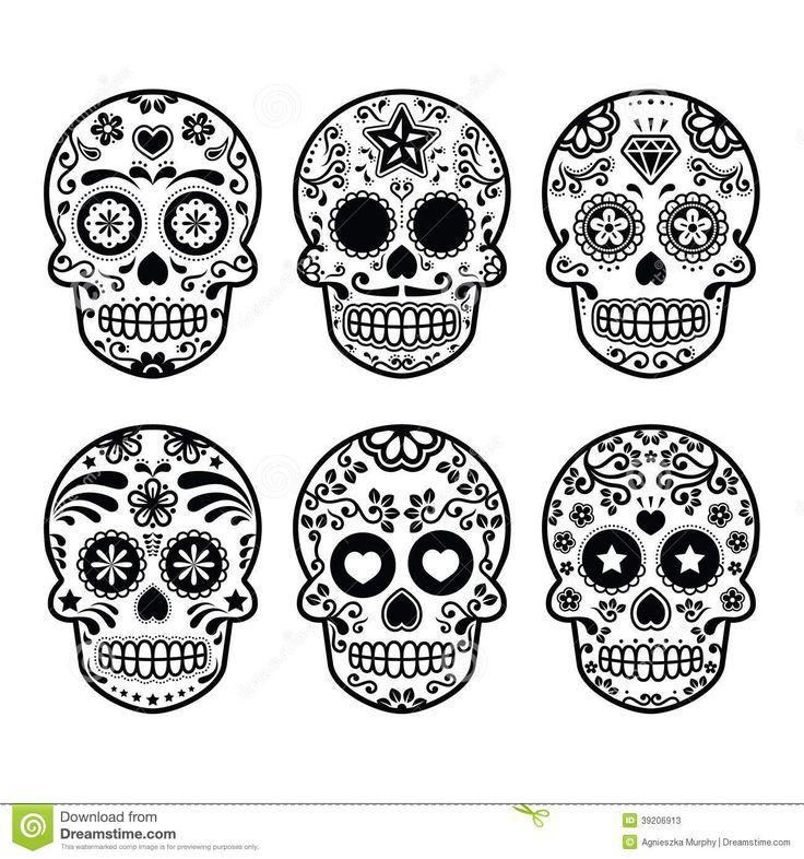 Dia De Los Muertos Art Royalty Free Stock Photos At Dreamstime Com Sugar Skull Tattoos Skull Template Skull