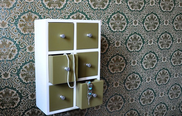 painted wall jewelry cabinet