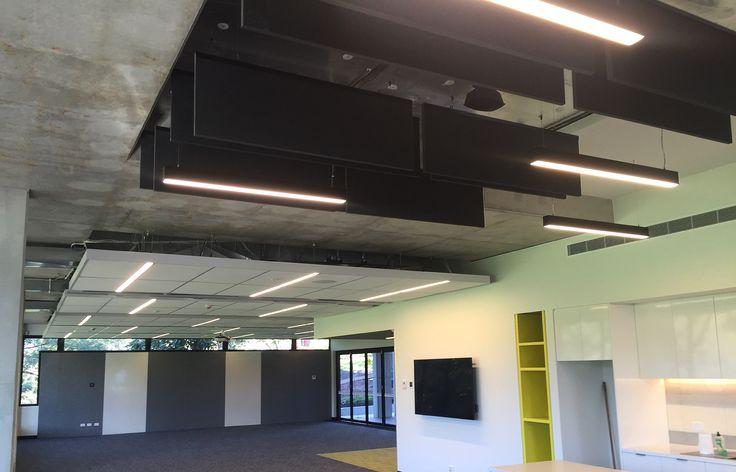 Alphington Grammar School amenities area brought to life by Sphera lighting #Linea #Leda #nastro #nora #education #design #led
