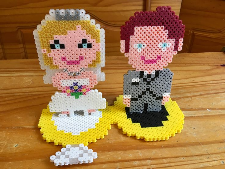 Perler Bead Wedding Marriage Bride Groom