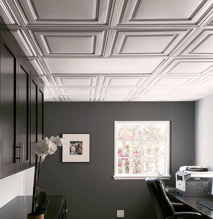 This office drop ceiling is anything but basic with our beautiful Stratford  Ceiling Tiles in White - Top 25+ Best Drop Ceiling Tiles Ideas On Pinterest Updating Drop