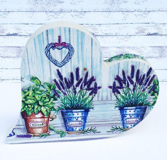 lavender wooden heart decor heart stand 3D heart heart