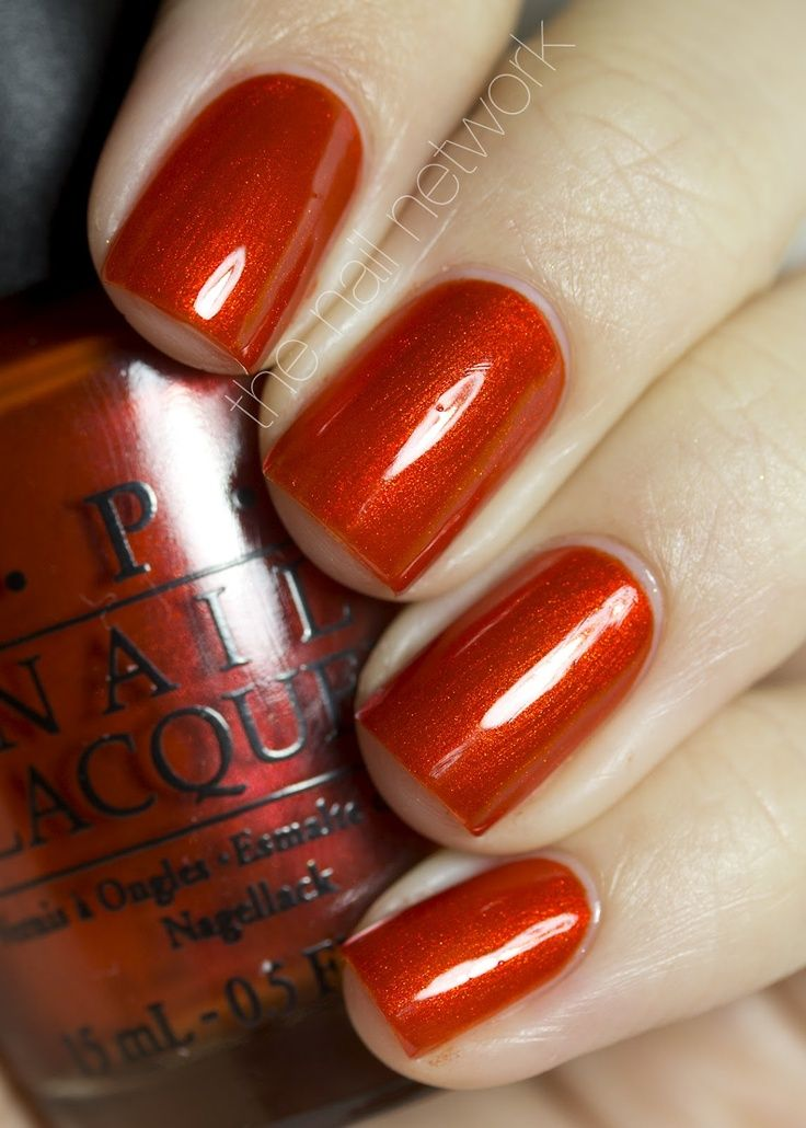 dark orange nail polish - Google Search | Burnt Orange ...
