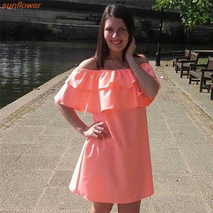 >> Click to Buy << Women Dress Fashion Sexy Slash Neck Women Dress Flounced Style Women's Clothing #Affiliate