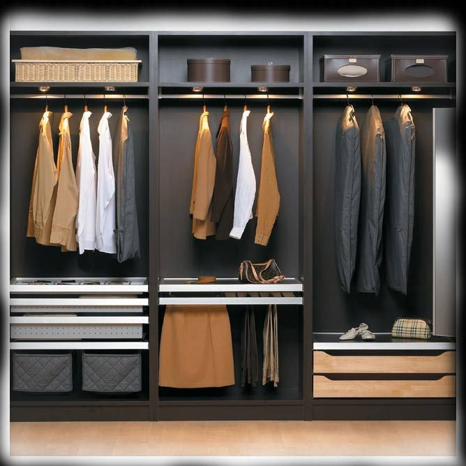33 best garde robe images on pinterest bedroom ideas bedrooms and closet storage. Black Bedroom Furniture Sets. Home Design Ideas