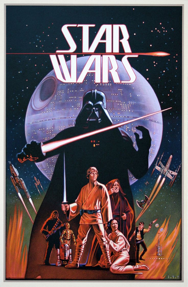 Old school star wars a new hope old movie posters