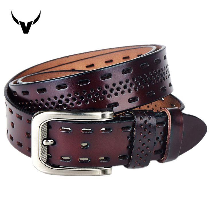 2016 Top Brand Luxury 100% Genuine Leather Men's Belts,Casual Design Mens Hollow Ventilate Belt For Men,Hip Jeans Belts Q3