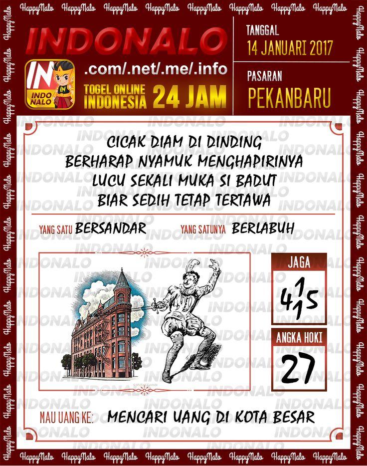Kode Hoki 2D Togel Wap Online Live Draw 4D Indonalo Pekanbaru 14 Januari 2017