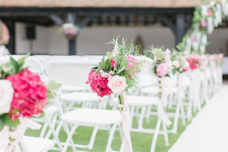 Lillibrooke Manor Wedding With Bright Pink Colour Scheme