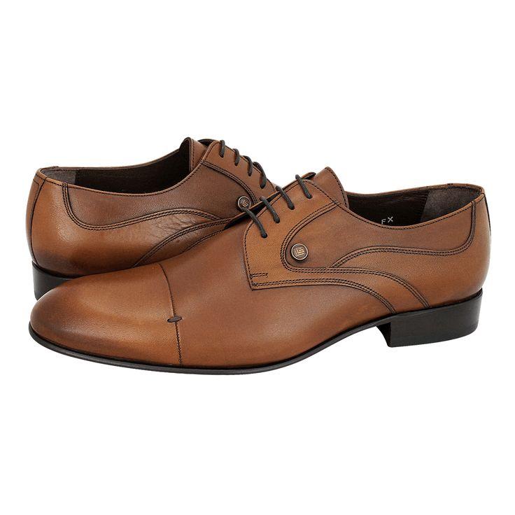 Serdar - Ανδρικά δετά παπούτσια Guy Laroche από δέρμα με δερμάτινη φόδρα και δερμάτινη σόλα.  Διατίθεται σε χρώμα Μαύρο και Ταμπά.