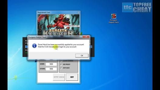 Dungeon Keeper Hack/Cheat Tool April 2014 - Unlimited Gold, Gems and Stones