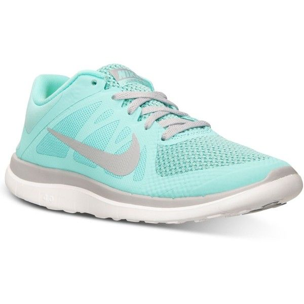 Nike Women's Free 4.0 V4 Running Sneakers from Finish Line ($90) ❤ liked on