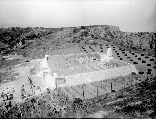 One of the cemeteries created as a result of the 8-month Gallipoli Campaign fought by Commonwealth & French forces in an attempt to force Turkey out of the war, to relieve the deadlock of the Western Front in France & Belgium, & to open a supply route to Russia through the Dardanelles & Black Sea. The Allies landed on the peninsula 25-26.4.1915; 29th Division at Cape Helles in the south & Australian & New Zealand Corps north of Gaba Tepe on the west coast, soon known as Anzac.
