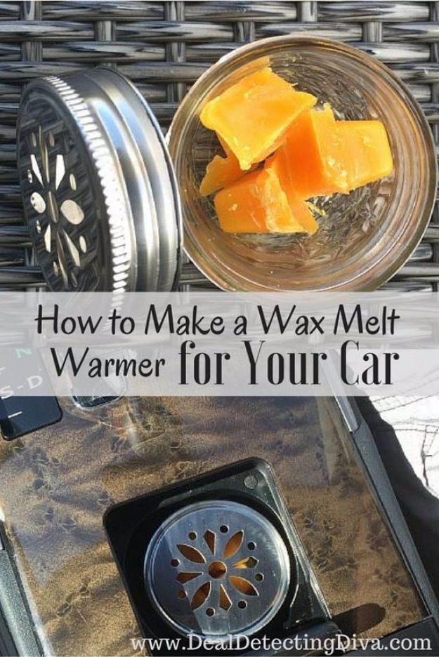 DIY Car Accessories and Ideas for Cars - Make a Wax Melt Warmer for Your Car - Interior and Exterior, Seats, Mirror, Seat Covers, Storage, Carpet and Window Cleaners and Products - Decor, Keys and Iphone and Tablet Holders - DIY Projects and Crafts for Women and Men http://diyjoy.com/diy-ideas-car