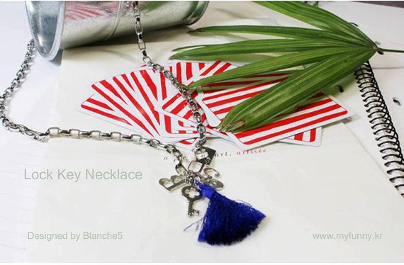 Lock and Key Necklace by Myfunny on Etsy, $24.25