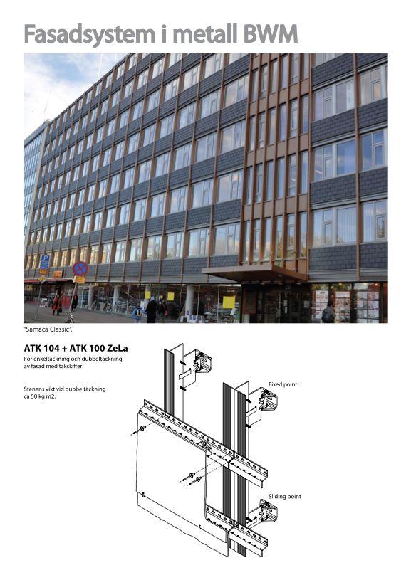 Fasadsystem i metall