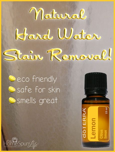 Natural Hard Water Stain Removal