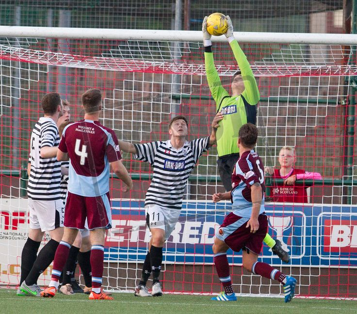 Queen's Park's keeper Andy Murphy in action during the Betfred Cup game between Stenhousemuir and Queen's Park.