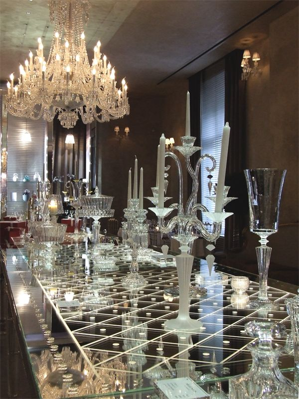 Wine tasting at baccarat immersed into the world of fine crystals