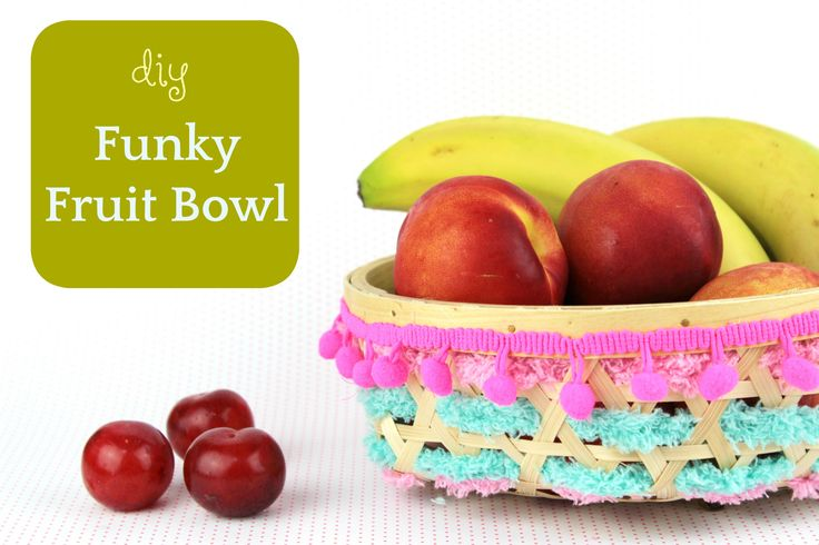 New diy on my blog: Funky Fruit Bowl with Pom Pom and Yarn!!!     http://www.efzincreations.com/2017/06/diy-yarn-decorated-pompom-fruit-bowl.html  Add a colorful sparkle in your Kitchen Decoration this Summer!   #diy #craft #tutorial #fruit #homedecor #kitchen #bowl #pompom #yarn #ribbon #decor #recycle #upcycle #craftforkids