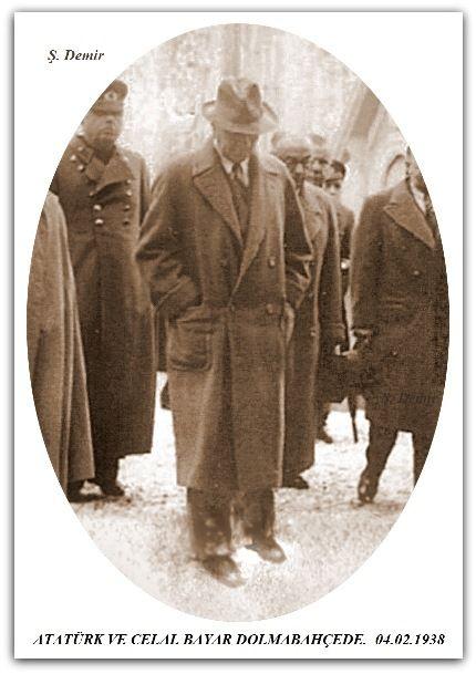 ATATÜRK VE CELAL BAYAR DOLMABAHÇEDE. 04.02.1938