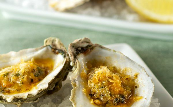 Grilled Oysters with Spicy Lemon Garlic Butter