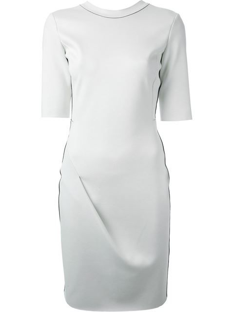 Shop Emporio Armani contrasting trim dress in Vitkac from the world's best independent boutiques at farfetch.com. Over 1000 designers from 60 boutiques in one website.