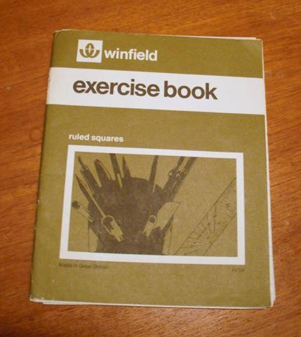 Woolworths exercise book, this was the point at which Mumma knew she had to follow this board.