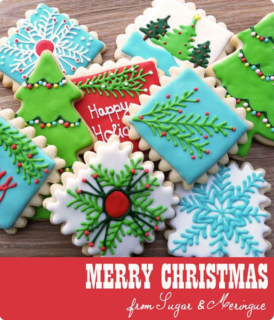 Merry Christmas Cookies by Sugar & Meringue / E-A-T, via Flickr
