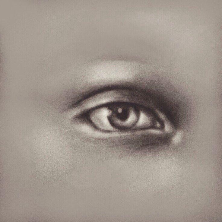 Глаз. Карандаш H - 6B + photoshop