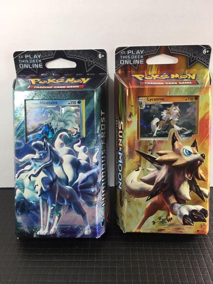 Pokemon TCG Sun & Moon Burning Shadows BOTH Theme Decks FREE SHIPPING  | eBay