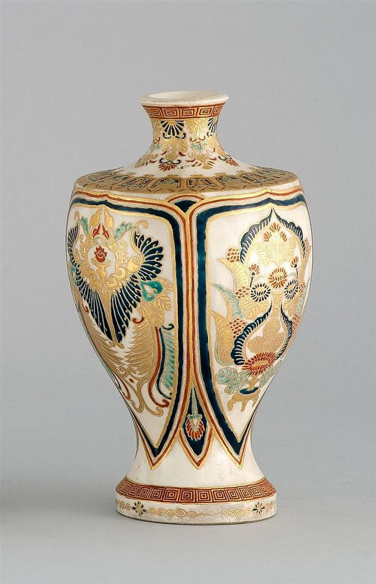 240 best satsuma images on pinterest japanese art japanese satsuma pottery vase circa 1870 in baluster form with passionflower and stylized bird design height reviewsmspy