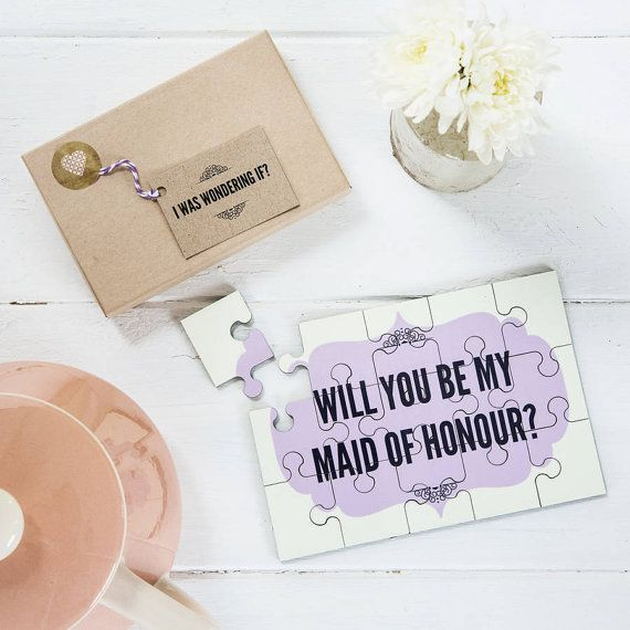 Personalised 'Will You Be My Maid Of Honour' by LouBrownDesigns