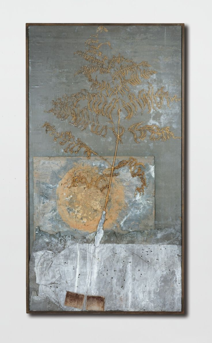 Anselm Kiefer - JOHANNISNACHT (MIDSUMMER NIGHT) ACRYLIC, SOIL, NATURAL ELEMENTS AND LEAD IN STEEL FRAME BY THE ARTIST. EXECUTED IN 1987-1991.