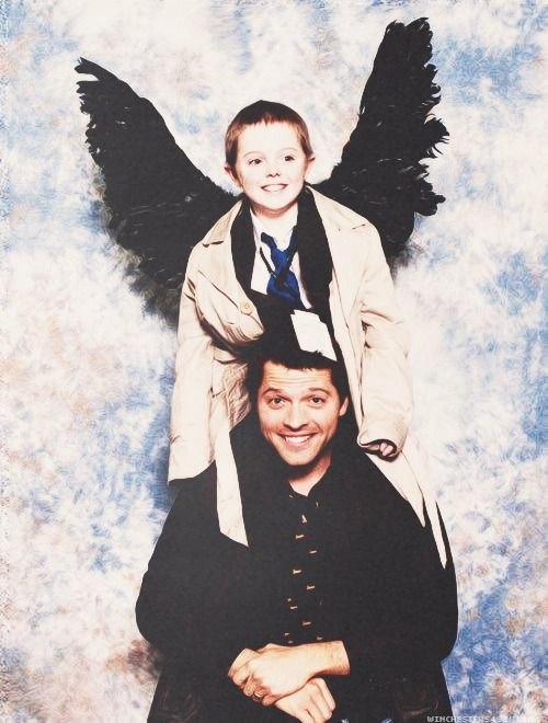 Supernatural Misha Collins and friend. THIS IS THE MOST ...
