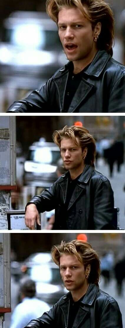 "Jon Bon Jovi - ""Keep The Faith"" 1992. @missy80s | Tumblr"