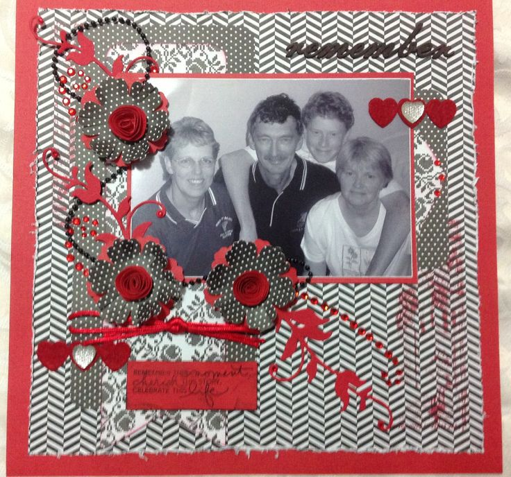Love this family page.   Designed by Leigh Cooper & made at Leigh's Saturday get togethers.