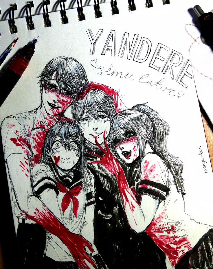Inktober Day 5: Yandere Simulator with new game characters