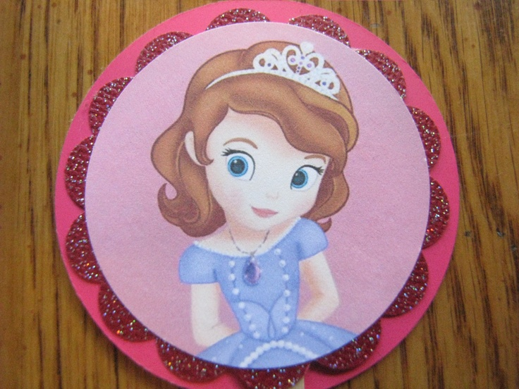 Sofia The First Crown Cake Topper