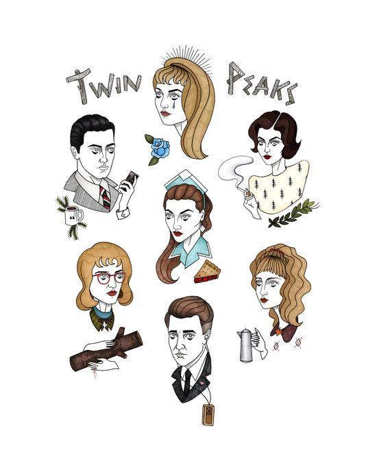twin peaks cast Art Print
