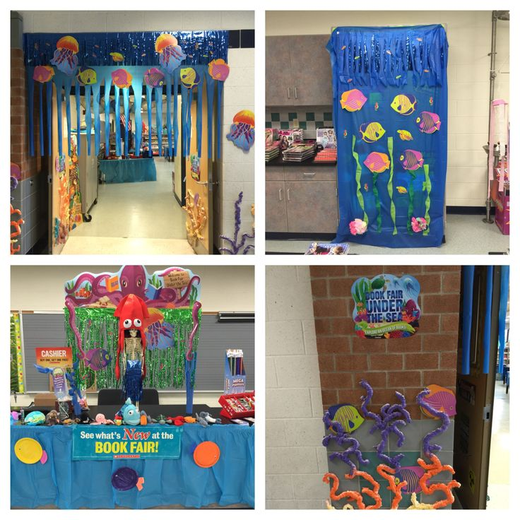 Decorations for Under the Sea Theme book fair