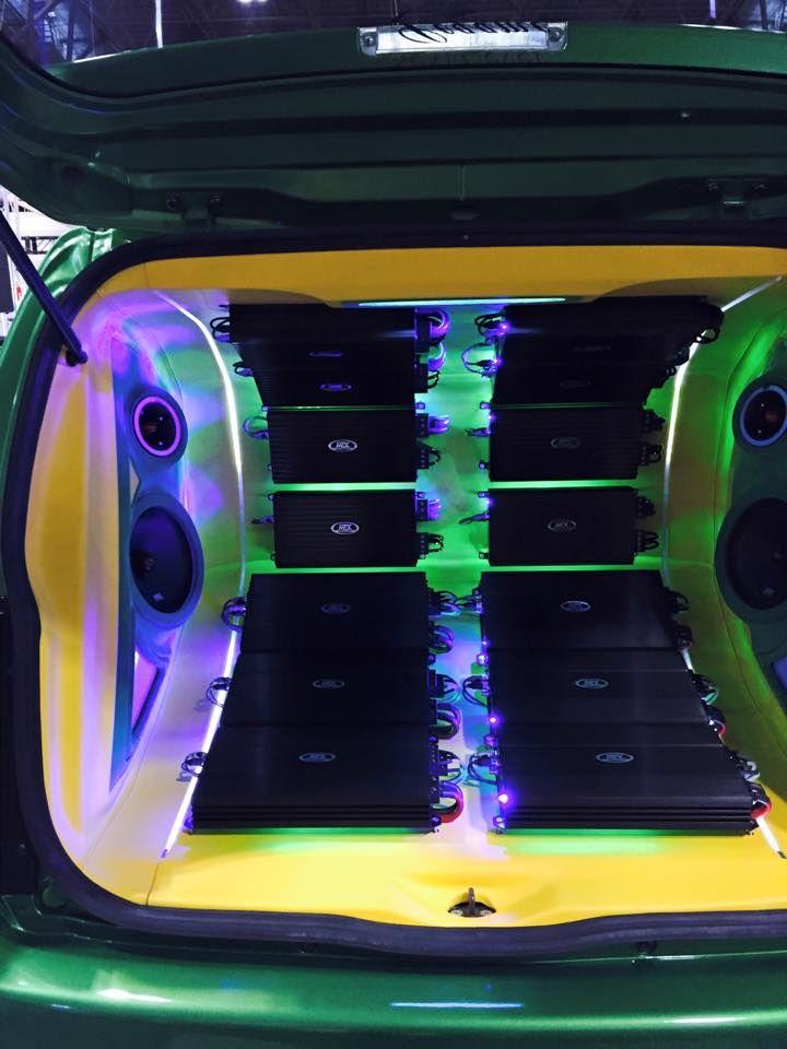 Custom amp rack full of TD series amplifiers. #mtxaudio