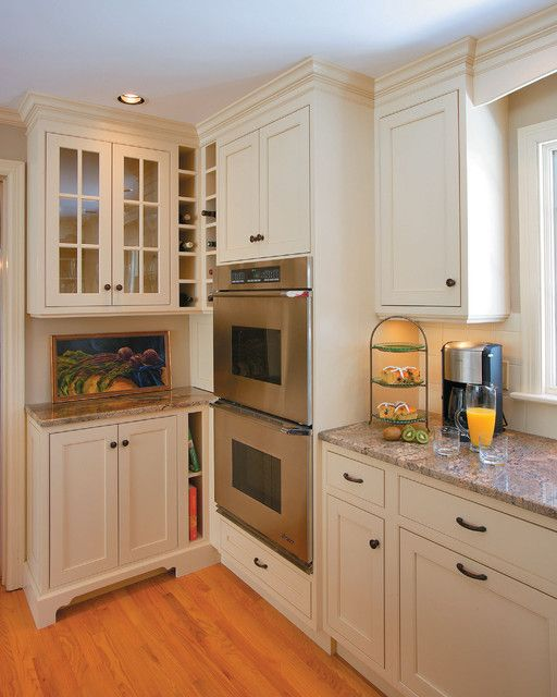 Shallow depth cabinets kitchen pinterest traditional for Lower cabinet depth