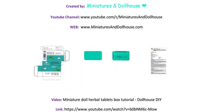 Miniature doll herbal tablets tutorial miniatures for Diy crafts youtube channels