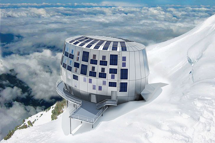 Refuge du Goûter: Space-Age Self-Sufficient Alpine Lodge is th...