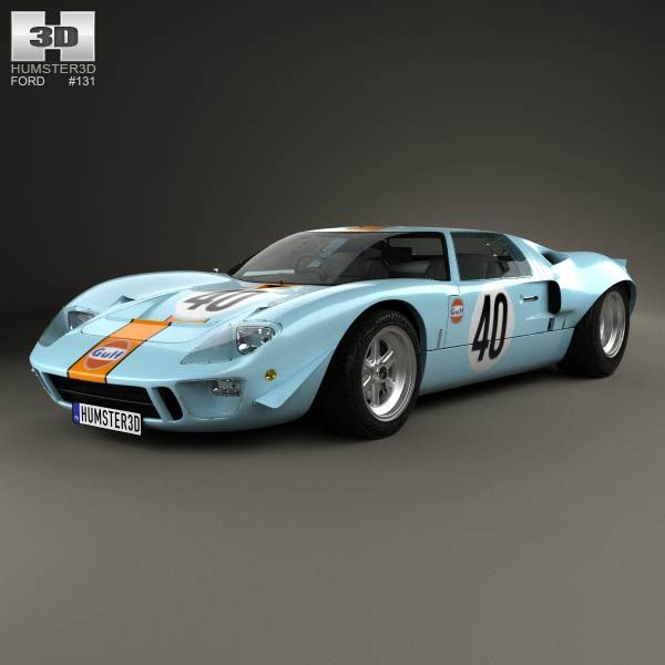 Ford GT40 1968 3d model from humster3d.com. Price: $75