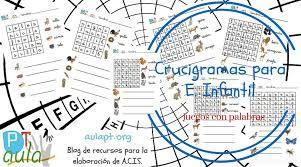 Resultado de imagen de juegos lenguaje: sopas de letra, y otros para niños