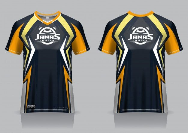 Download Esport Gaming T Shirt Jersey Template Uniform Front And Back View Sports Tshirt Designs Gaming Shirt T Shirt Design Template